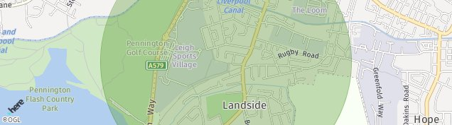 Map of Leigh