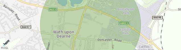 Map of Wath-upon-Dearne