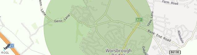 Map of Worsbrough