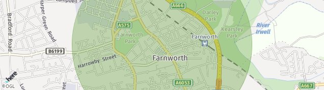Map of Farnworth