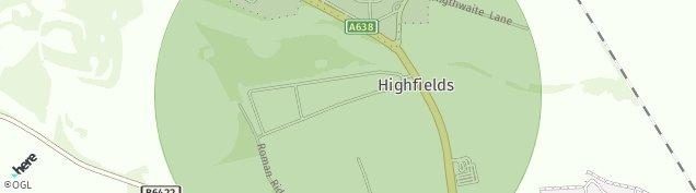 Map of Highfields