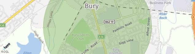 Map of Bury