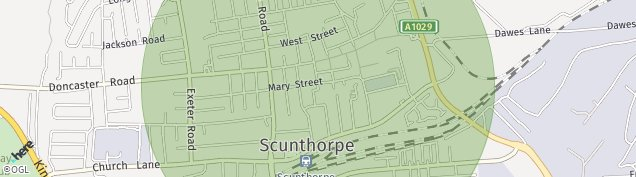 Map of Scunthorpe