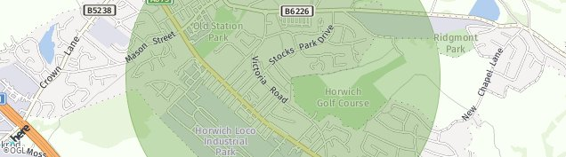 Map of Horwich