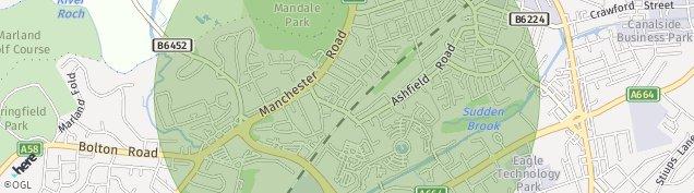 Map of Rochdale