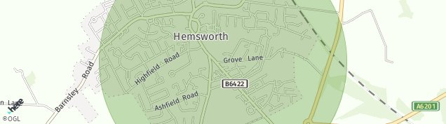 Map of Hemsworth