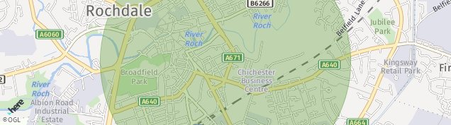 Map of Rochdale