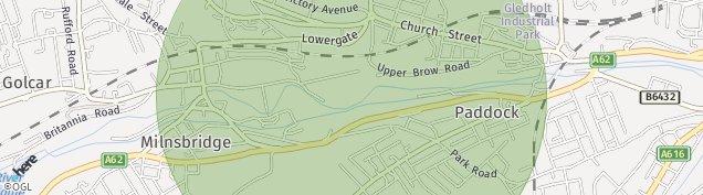 Map of Crosland Moor