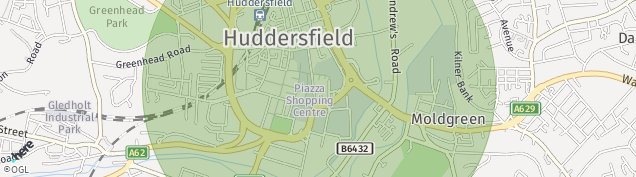 Map of Huddersfield