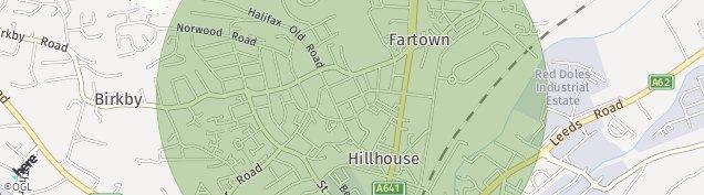Map of Huddersfield