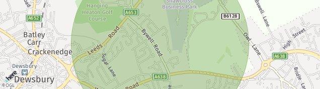 Map of Dewsbury