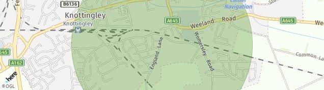 Map of Knottingley