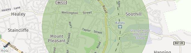Map of Batley