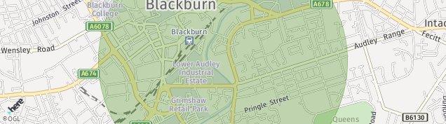 Map of Blackburn