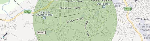 Map of Accrington