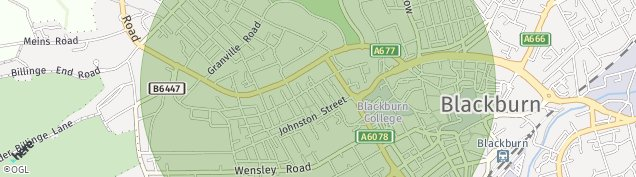 Map of Blackburn