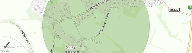 Map of Great Preston