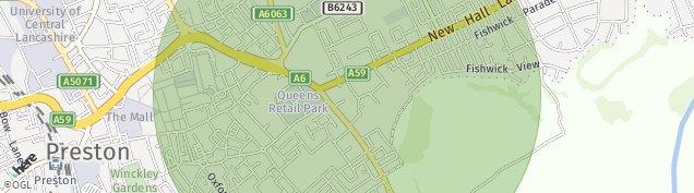 Map of Preston