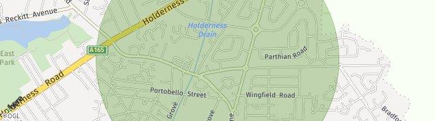 Map of Hull