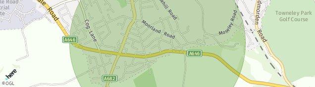 Map of Burnley