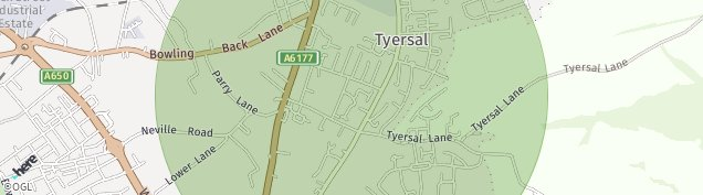 Map of Tyersal