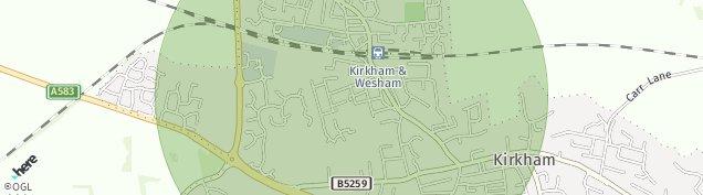 Map of Kirkham
