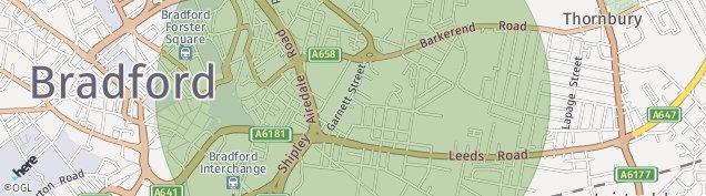 Map of Bradford