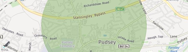 Map of Pudsey