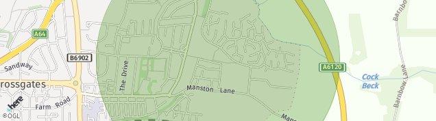 Map of Leeds