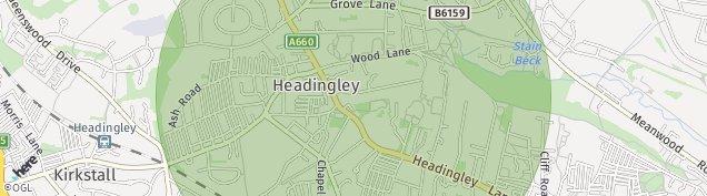 Map of Headingley