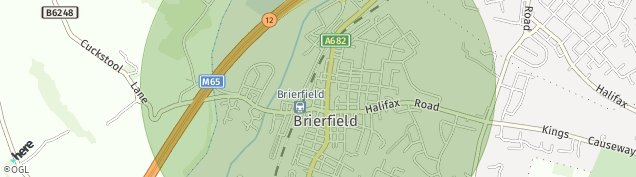 Map of Brierfield