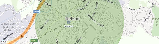 Map of Nelson