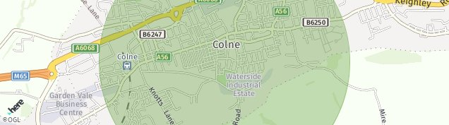 Map of Colne