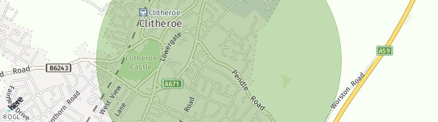 Map of Clitheroe