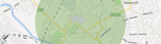 Map of York