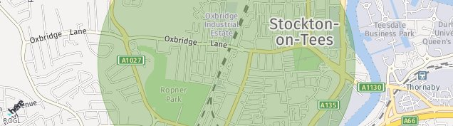 Map of Stockton-on-Tees