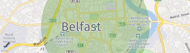 Map of Belfast