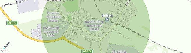 Map of Shildon