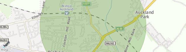 Map of Bishop Auckland