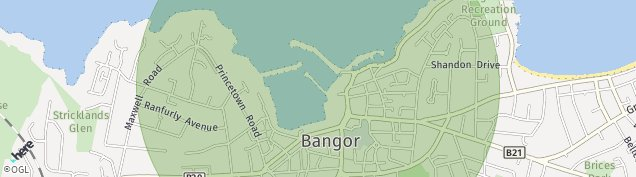 Map of Bangor