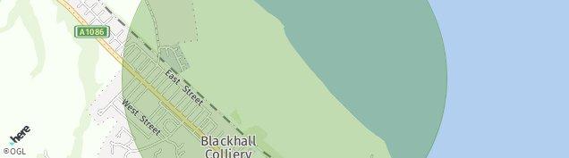 Map of Blackhall Colliery