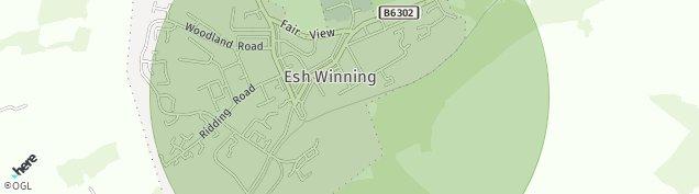 Map of Esh Winning