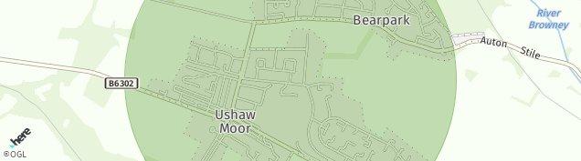 Map of Ushaw Moor