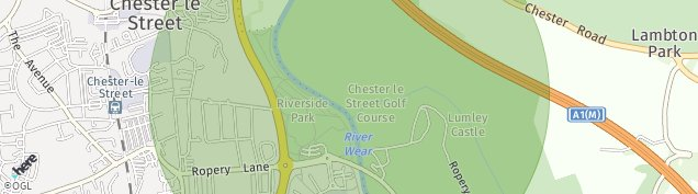 Map of Chester Le Street