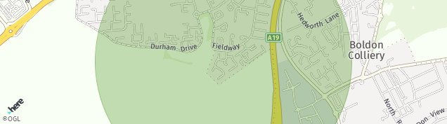 Map of Jarrow