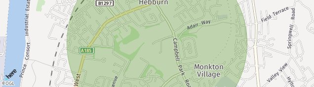Map of Hebburn