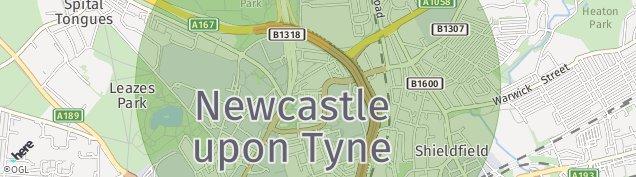 Map of Newcastle Upon Tyne