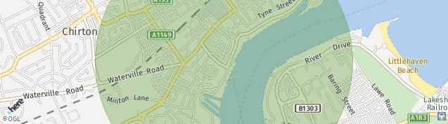 Map of North Shields