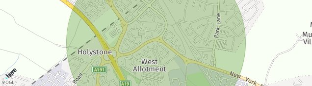 Map of West Allotment