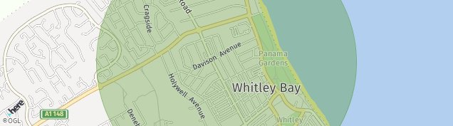 Map of Whitley Bay